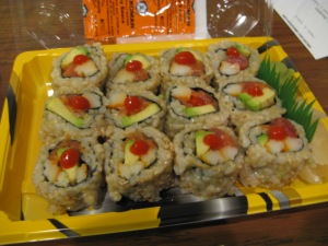 brown rice tuna dynomite roll